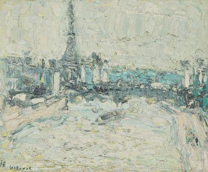 ANDRÉ COTTAVOZ (1922-2012) Paris, le pont...