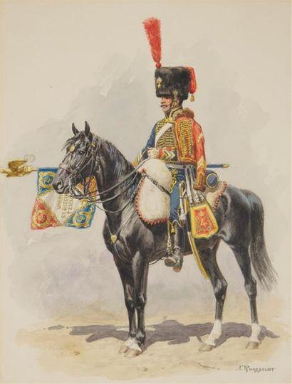 LUCIEN ROUSSELOT (1900-1992) Hussard du 4e...
