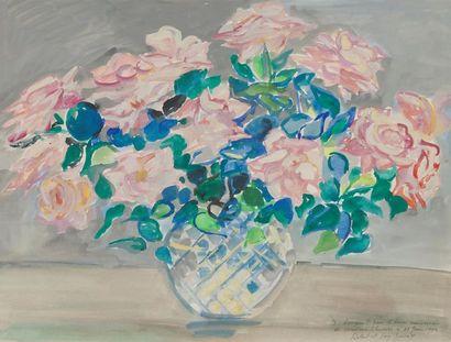 ROBERT SAVARY (1920-2000) Vase au bouquet...