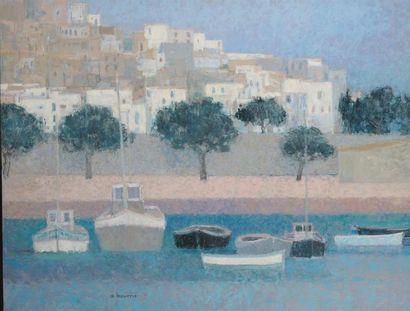 ANDRÉ BOURRIÉ (NÉ EN 1936) Le port de Peniscola...