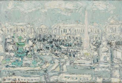 ANDRÉ COTTAVOZ (1922-2012) Paris, la place...