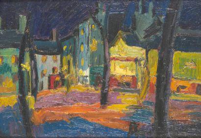 PIERRE AMBROGIANI (1907-1985) Place du Tertre,...
