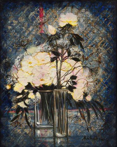 MICHEL HENRY (1928-2016) Vases aux roses...