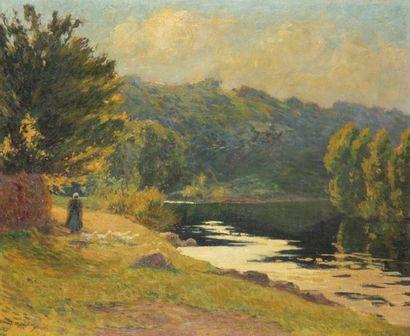 PAUL MADELINE (1863-1920) Gardienne d'oies...