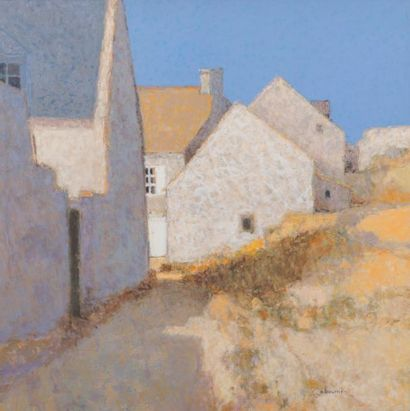 ANDRÉ BOURRIÉ (NÉ EN 1936) Maisons à Bréhat,...