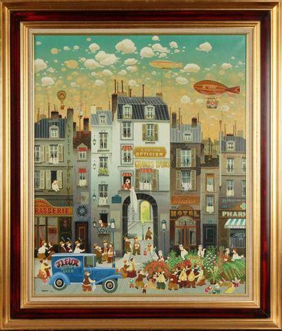 HIROMICHI YAMAGAGA (NÉ EN 1948) Paris, rue...