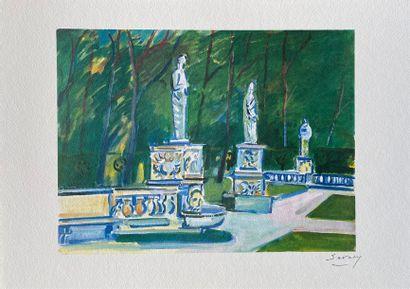 ROBERT SAVARY (1920-2000) Vues romaines Porte-folio...