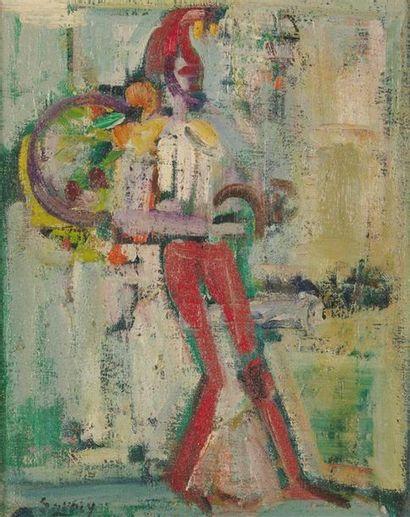 ROBERT SAVARY (1920-2000) Le clown musicien...