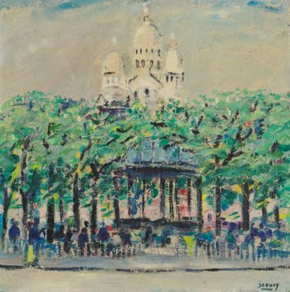 ROBERT SAVARY (1920-2000) Paris, le Sacré-Coeur...
