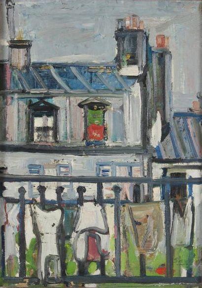 ROBERT SAVARY (1920-2000) Balcon sur les...