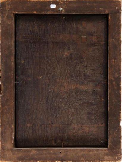 ÉCOLE ANVERSOISE VERS 1600, SUIVEUR DE PIETER COCKE VAN AELST Sainte Famille sous...