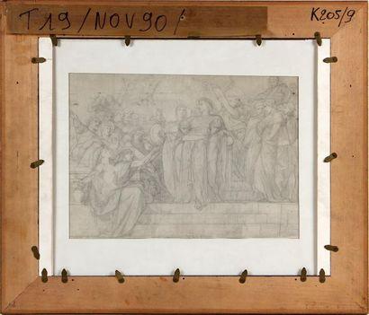 GUSTAVE BOULANGER (1824-1888) Le triomphe d'Antoine (recto-verso) Mine de plomb,...