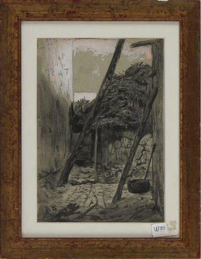 CÉLESTIN NANTEUIL (1813-1873) La cour de...