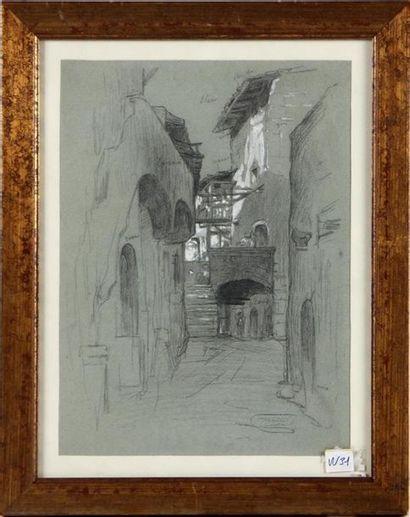 CÉLESTIN NANTEUIL (1813-1873) La ruelle du...