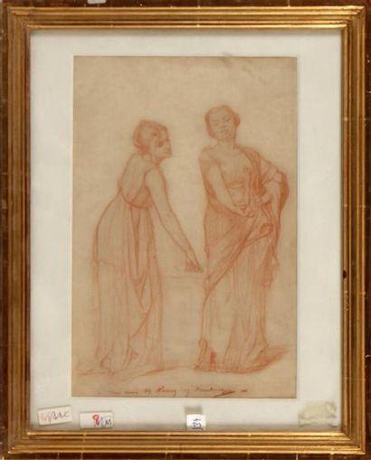 GUSTAVE BOULANGER (1824-1888) Deux femmes...
