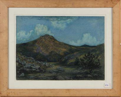THÉODORE BAIERL (1881-1932) Paysage de montagne...