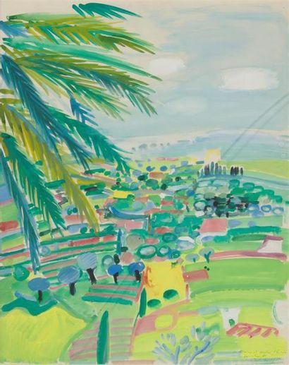 ROBERT SAVARY (1920-2000) Paysage de Côte...