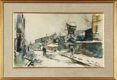 GEN PAUL (1895-1975) Montmartre, le Moulin...