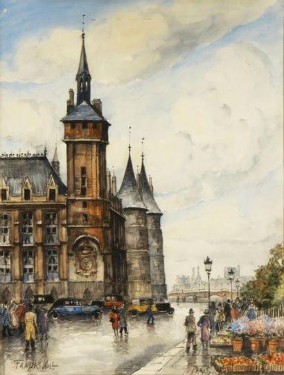 FRANK-WILL (1900-1951) Paris, quai de l'Horloge...