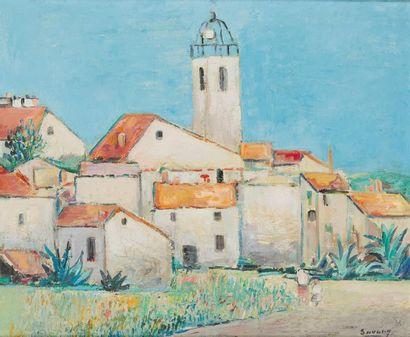 ROBERT SAVARY (1920-2000) Châteauneuf sur...