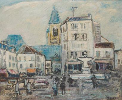 ROBERT SAVARY (1920-2000) L'ancienne place...