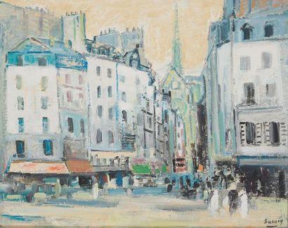 ROBERT SAVARY (1920-2000) Paris, la rue Frédéric...