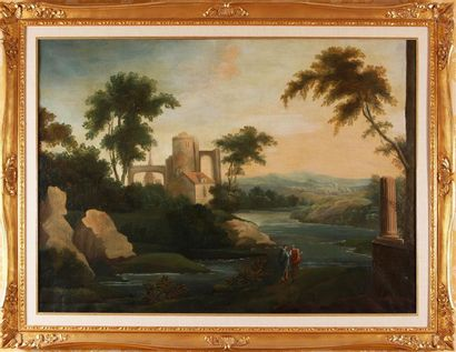D'APRÈS HUBERT ROBERT (1733-1808) Paysage...