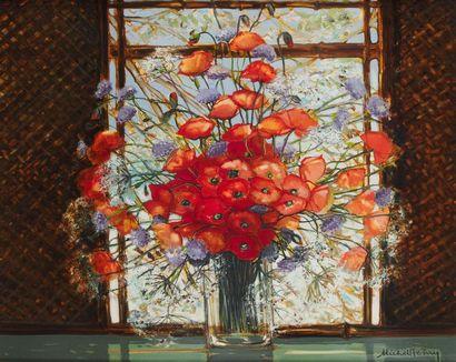 MICHEL HENRY (1928-2016) Vase aux coquelicots,...
