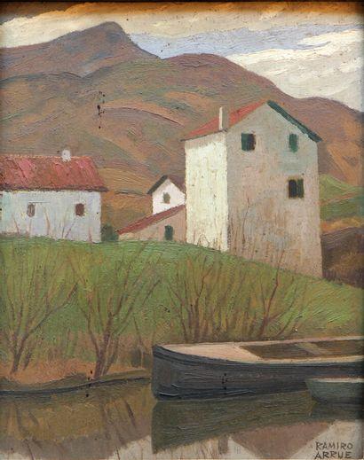 RAMIRO ARRUE (1892-1971)  Maisons basques...
