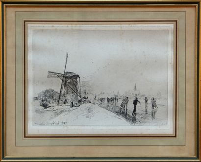 JOHAN-BARTHOLD JONGKIND (1819-1891)  Vue...