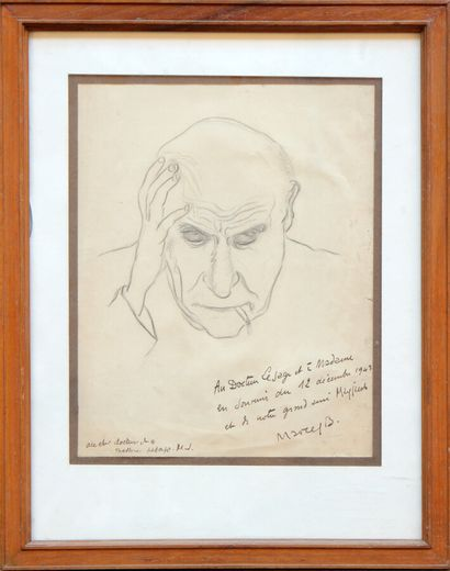 MARCEL BEALU (1908-1993)  Portrait de Max...