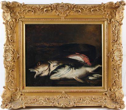 TH. PACHET (NÉ EN 1855)  Nature morte aux...