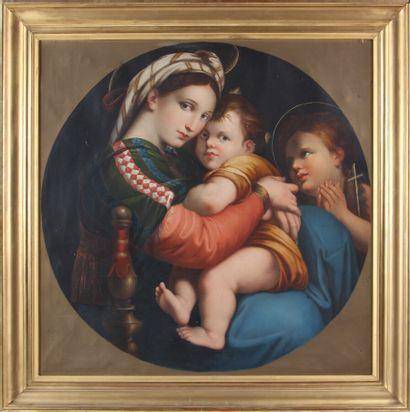 La Vierge à la chaise, copie d'après l'oeuvre...