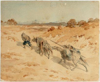 GUSTAVE DORÉ (1832-1883)  Don Quichotte et...