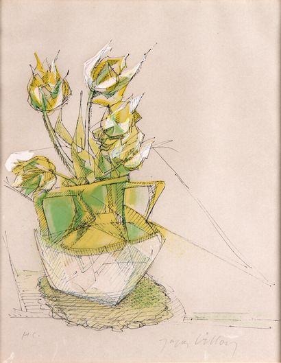 JACQUES VILLON (1875-1963)  Jeune fille à...