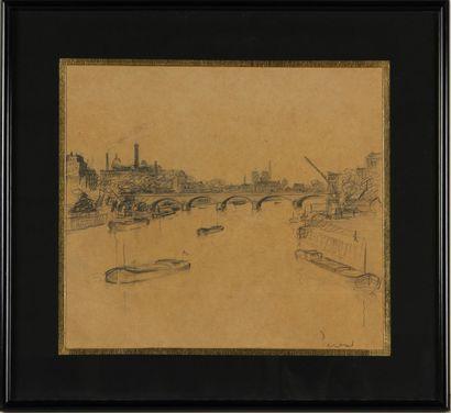 ÉCOLE MODERNE (XXe SIÈCLE)  Paris, la Seine...