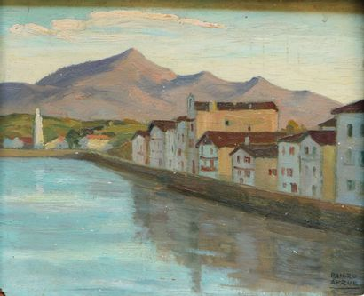 RAMIRO ARRUE (1892-1971)  Le quai Ravel à...
