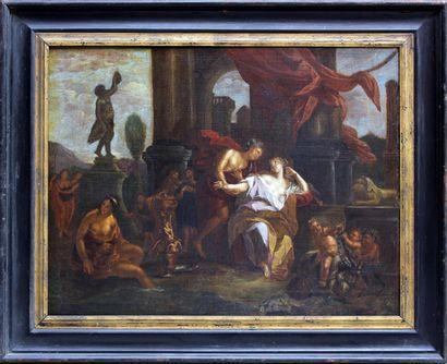 ÉCOLE ANVERSOISE VERS 1700 Scènes mythologiques...