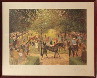 KLAUS PHILIPP (NÉ EN 1932) Course de chevaux...