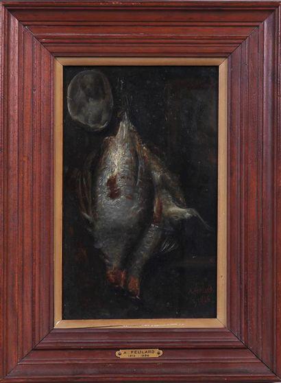 A. FEULARD (1813-1886) Nature morte aux perdrix...