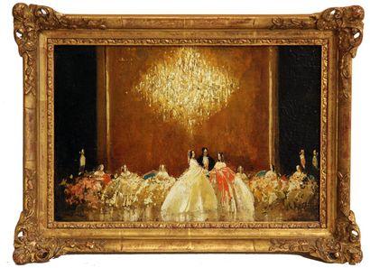 WALTER HEIMIG (1881-1955) Scène de bal Huile...