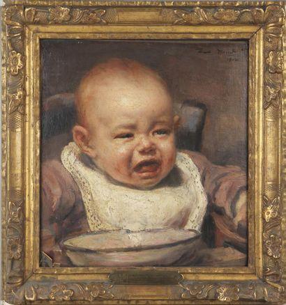 FLORENT MENET (1872-1942) Portrait de jeune...