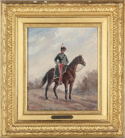 M de FONREMI, XIXe-XXe SIÈCLE Hussards à...