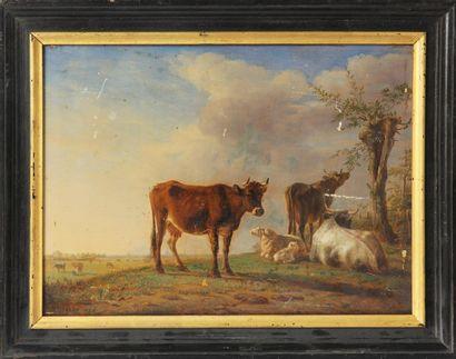 JEAN-BAPTISTE BERRE (1777-1838) Vaches et...