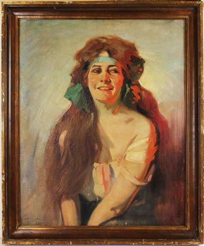 JACQUES FERNAND GONIN (1883- ?) Elégante...