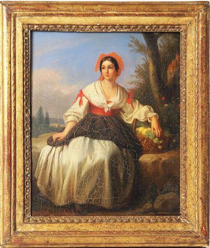 CHARLEMAGNE OSCAR GUET (1801-1871) Elégante...