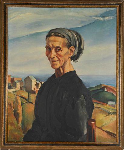 CHARLES KVAPIL (1884-1957) Portrait de femme...