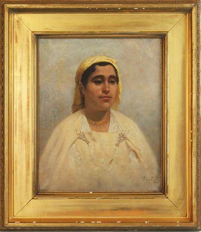 JOSEPH SINTES (1829-1913) Portrait d'une...
