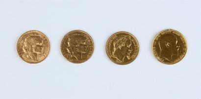 QUATRE PIÈCES or : trois de 20 FF (1868 -...