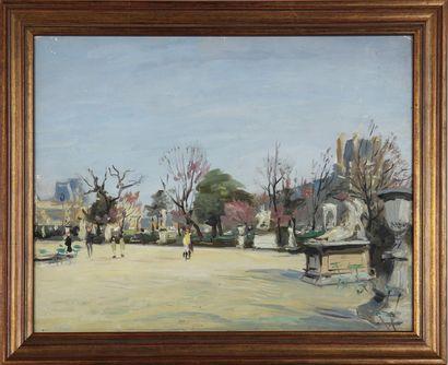 FRANÇOIS SALVAT (1892-1976) Jardin des Tuileries...
